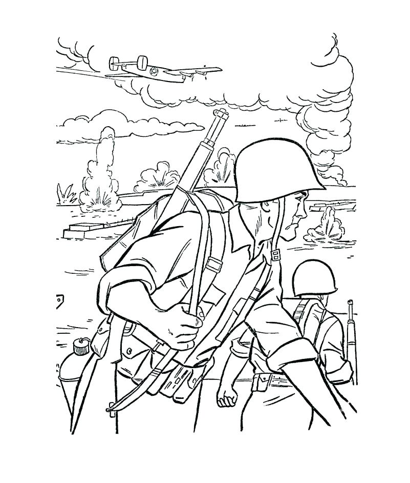 Army Coloring Pages For Kids At Getdrawings Com Free For