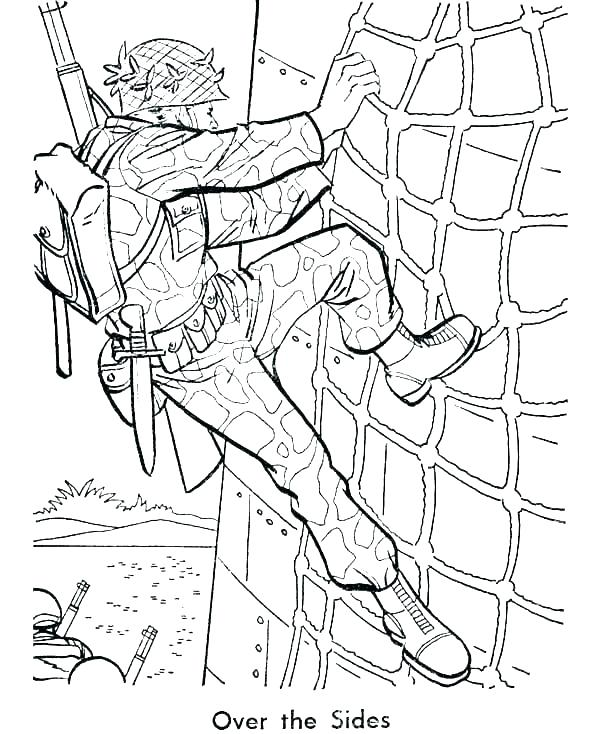 600x734 Army Men Coloring Pages Free Printable Army Coloring Pages