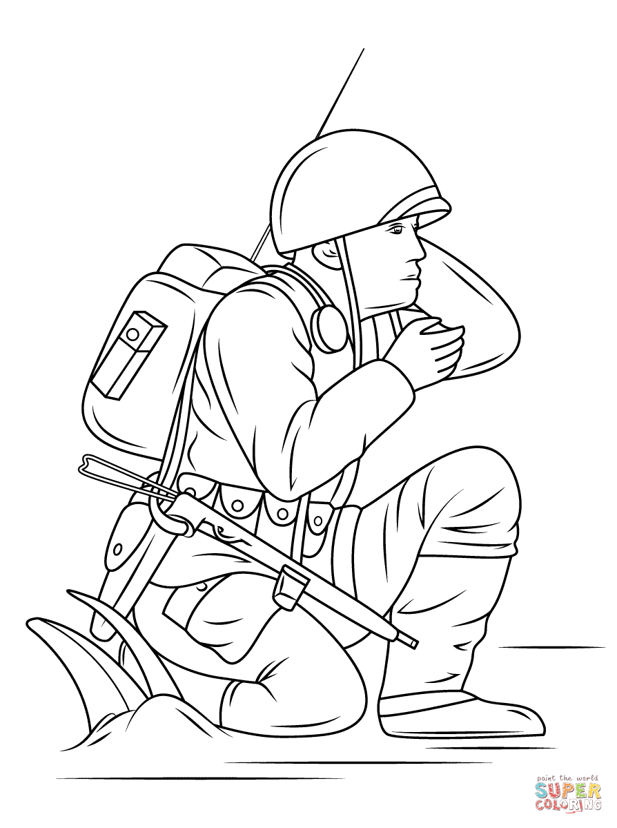 894x1199 Soldier Army Coloring Pages Picture Free Printable World War