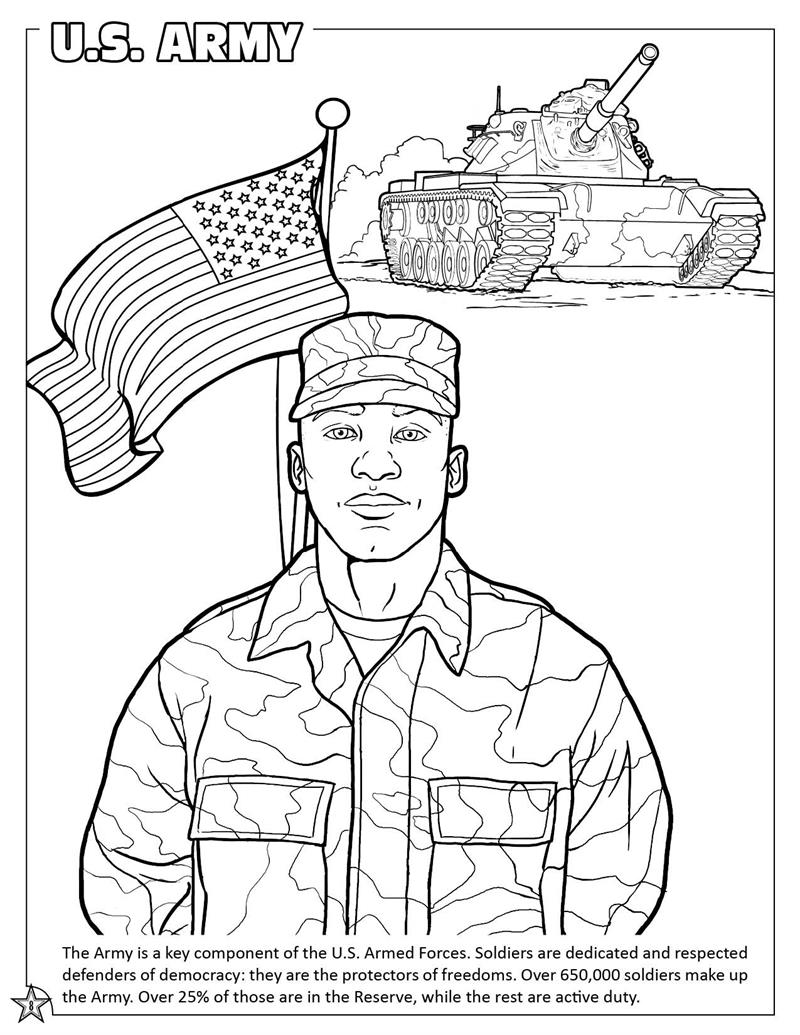 800x1035 Unique Army Coloring Pages Freemilitary Printa