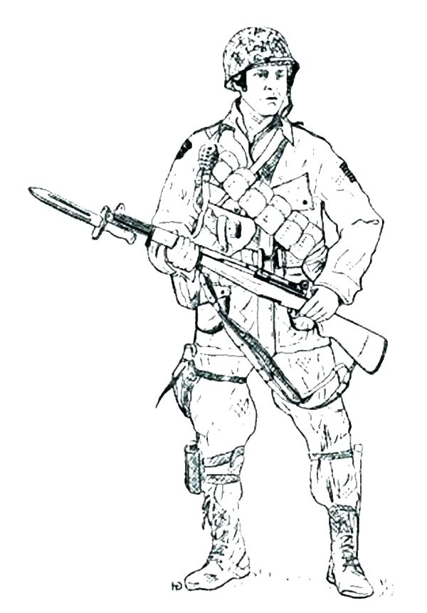 600x860 Army Soldier Colouring Pages Military Soldier Coloring Pages Free