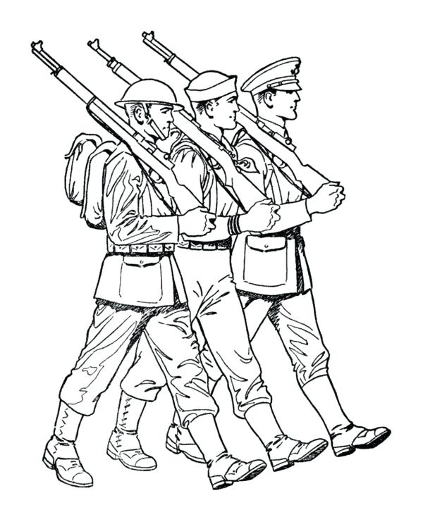 600x734 Soldier Coloring Pages Army Coloring Pages Soldiers A Winter