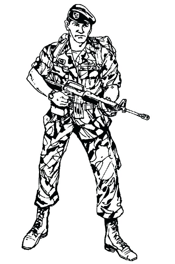 600x904 Soldier Coloring Pages Soldier Coloring Pages Army Soldier
