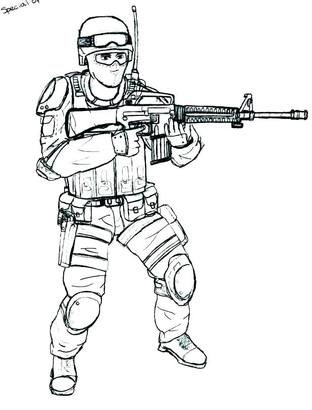 Army Coloring Pages Soldier At Getdrawings Free Download