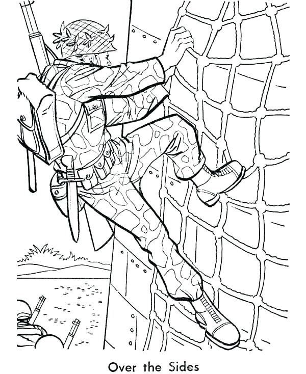 600x734 Army Coloring Pages Soldier Page Vehicle Sheets Col Murs