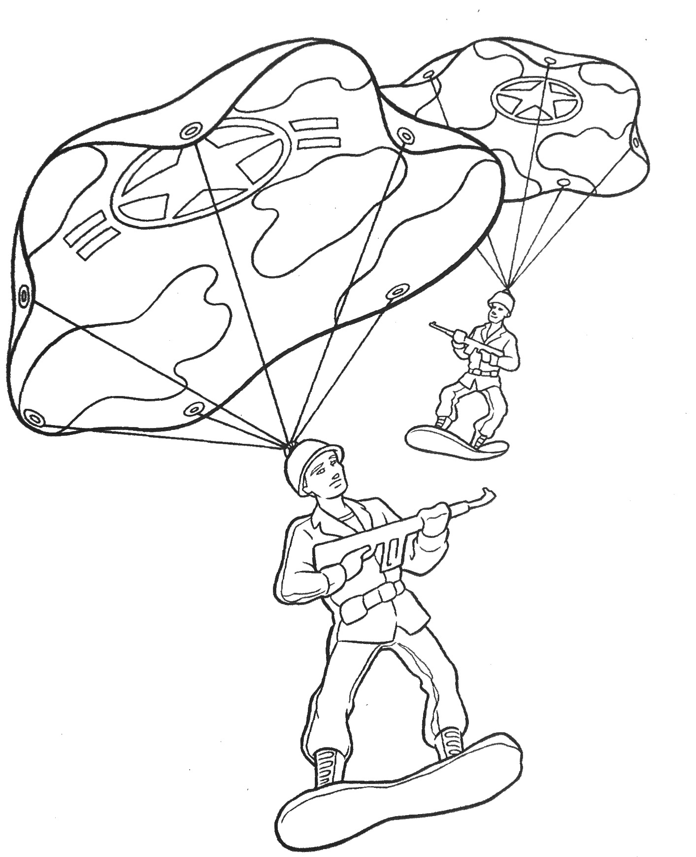 Army Guy Coloring Pages