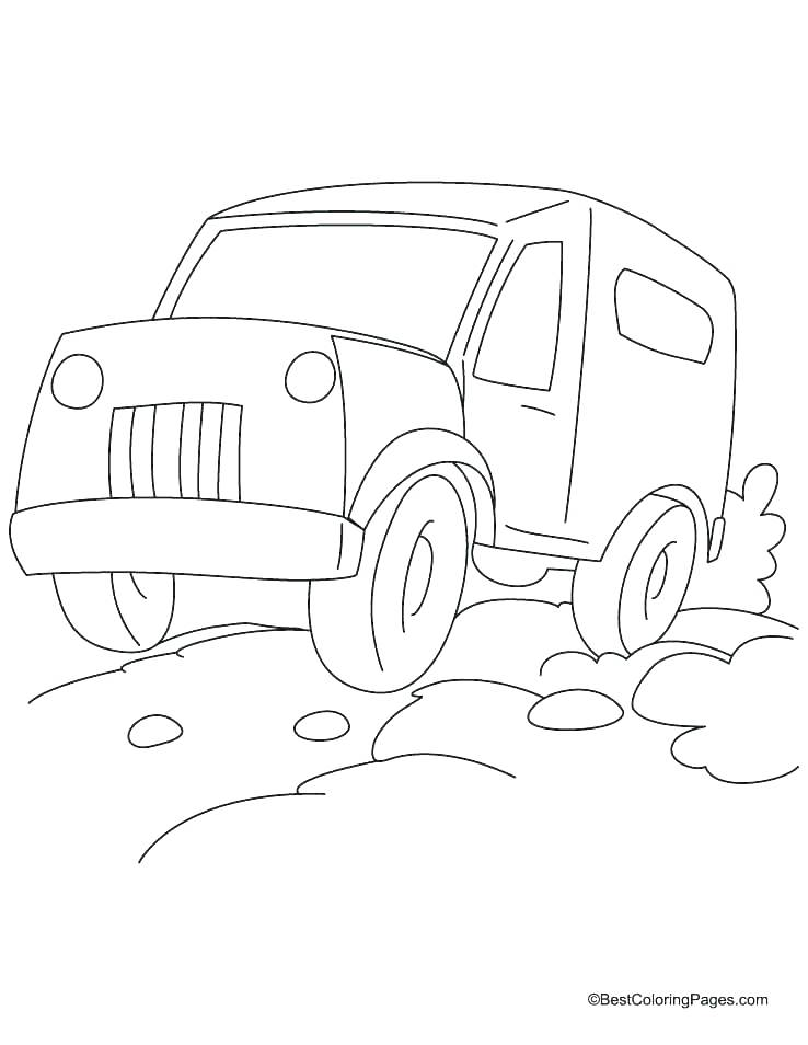 738x954 Jeep Coloring Page Jeep Coloring Page Car Monster Truck F Road