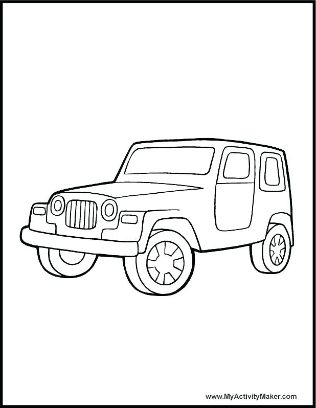 618x798 Jeep Coloring Page Military Jeep Patrol Coloring Pages Jeep Car