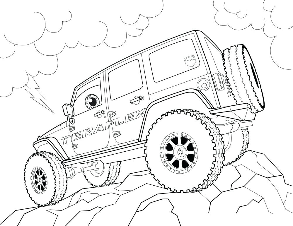 The best free Jeep coloring page images. Download from 212 ...