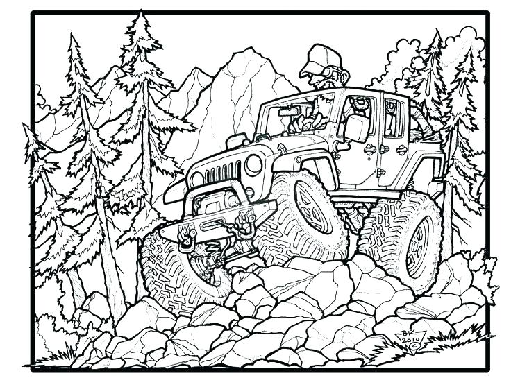 736x545 Jeep Coloring Pages Jeep Coloring Page Army Jeep Coloring Pages