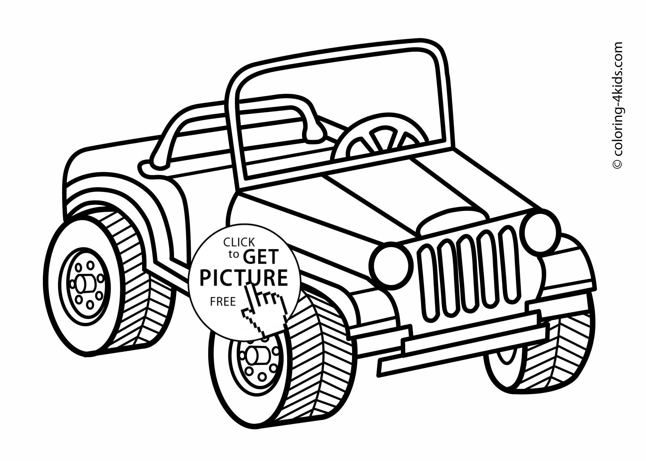 2079x1483 Jeep Transportation Coloring Pages For Kids, Printable