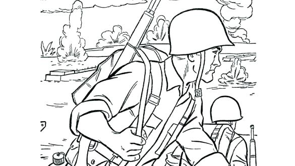 585x329 Army Men Coloring Pages Army Man Coloring Page Free Download