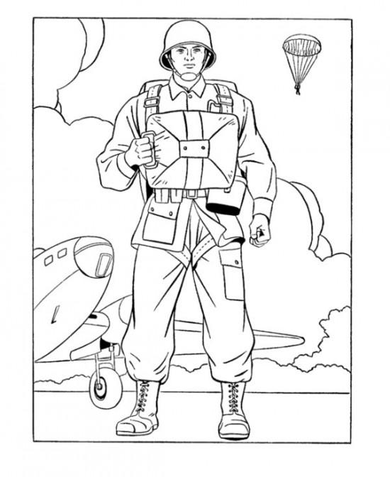 550x672 Army Men Coloring Pages Color Bros