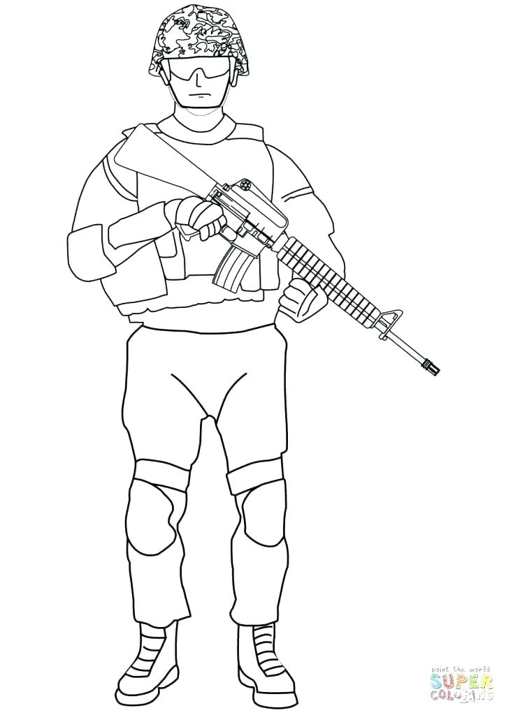 724x1024 Army Men Coloring Pages