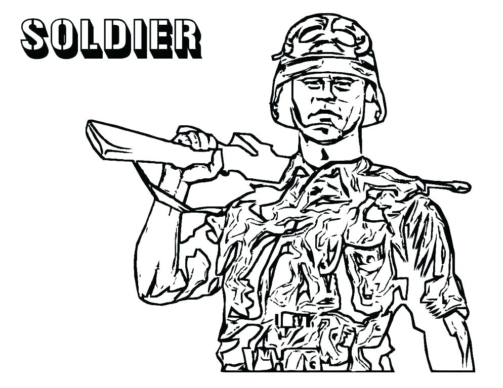 994x768 Soldier Coloring Page