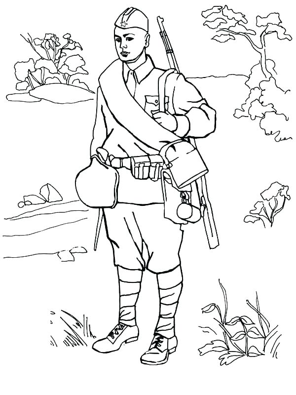 600x800 Army Guy Coloring Pages Army Soldier Coloring Pages Army Guy Army