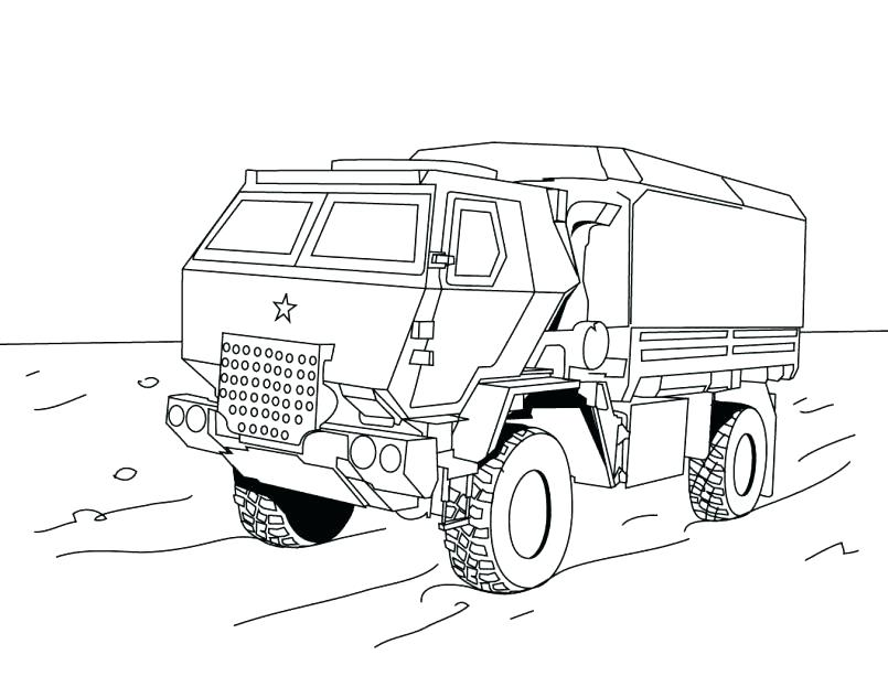 805x623 Army Truck Coloring Pages Fire Trucks Coloring Pages Large Size