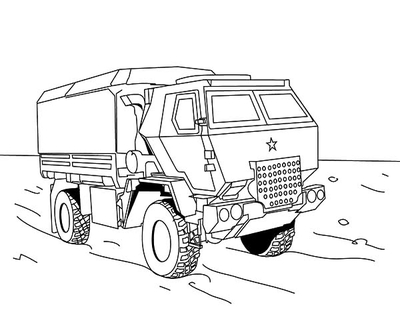 400x322 Army Truck Coloring Pages Page Image Clipart Images
