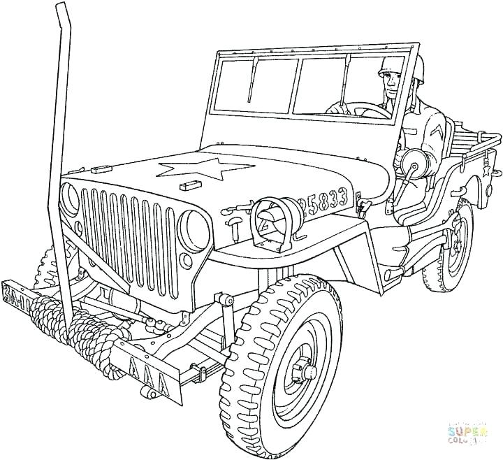 720x658 Army Coloring Pages Printable Army Truck Coloring Pages Page Free