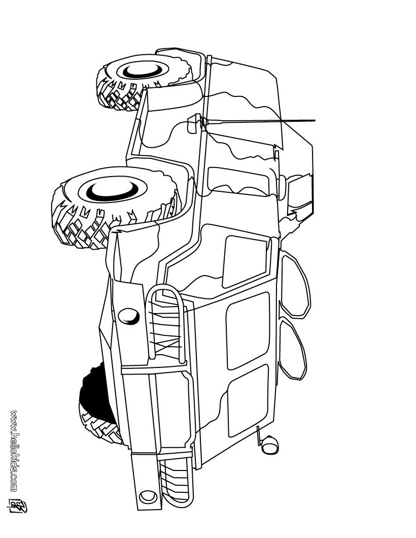 Army Vehicle Coloring Pages