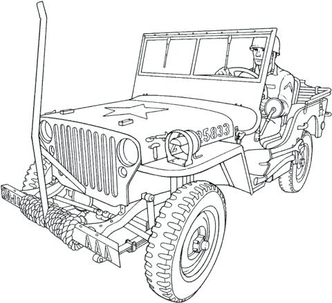 480x439 Army Truck Coloring Pages Click To See Printable Version Of Us