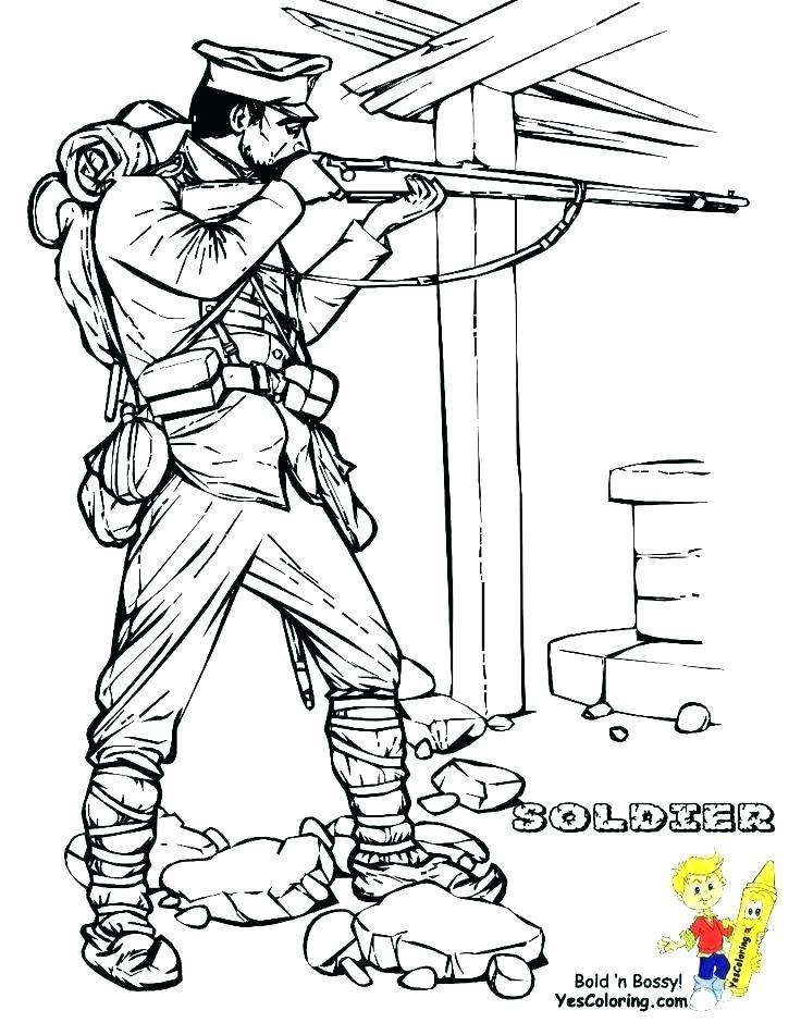 736x951 Army Coloring Page