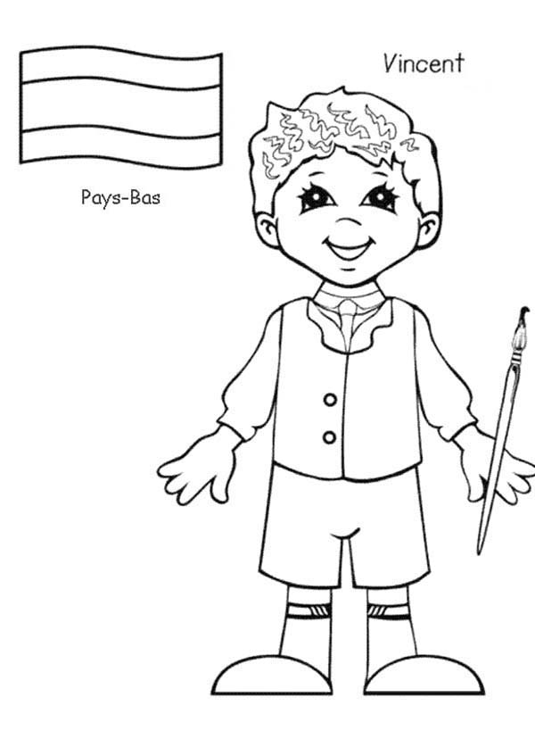 600x828 Children Around The World Coloring Pages For Kids Printable