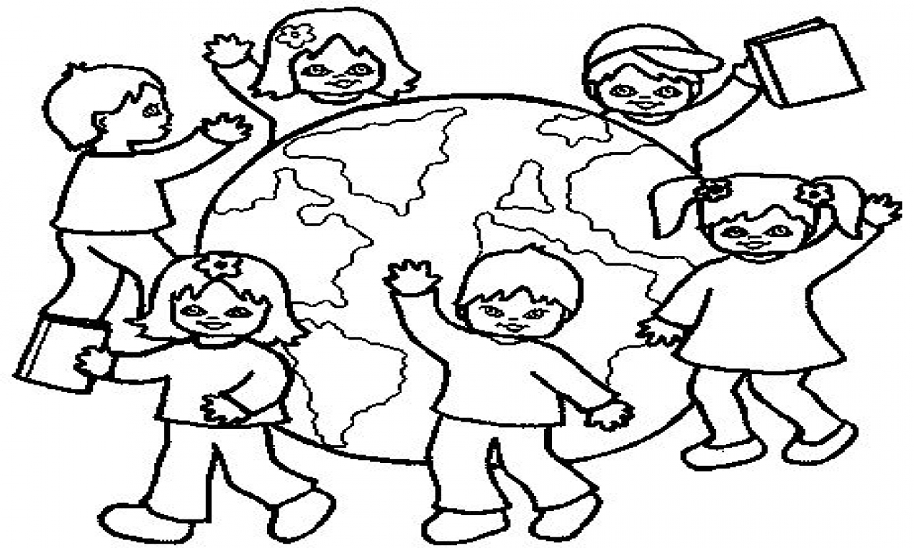 1280x768 Love Children Around The World Coloring Page Pages To Do