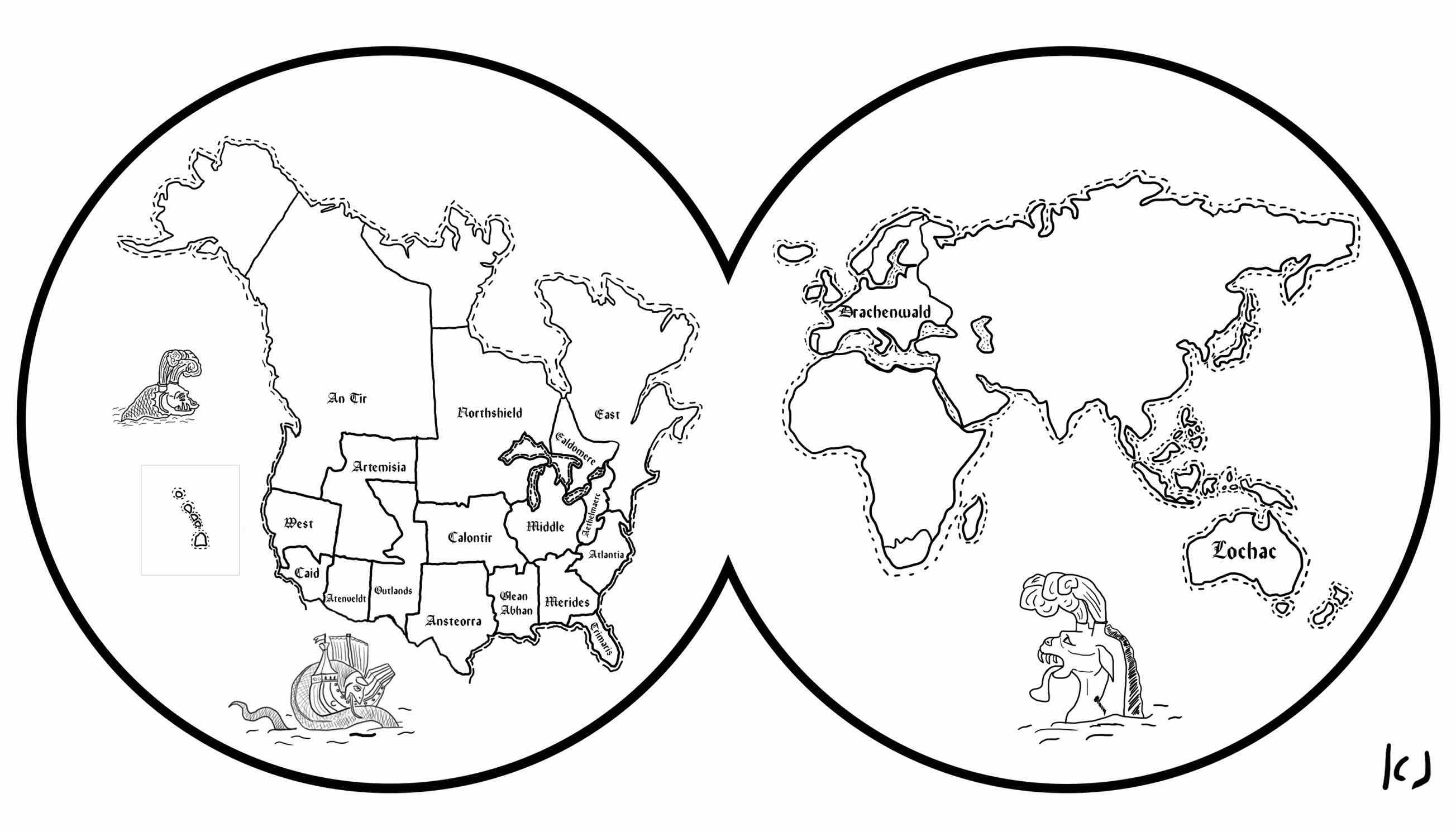 2607x1490 Map Of World Coloring Page