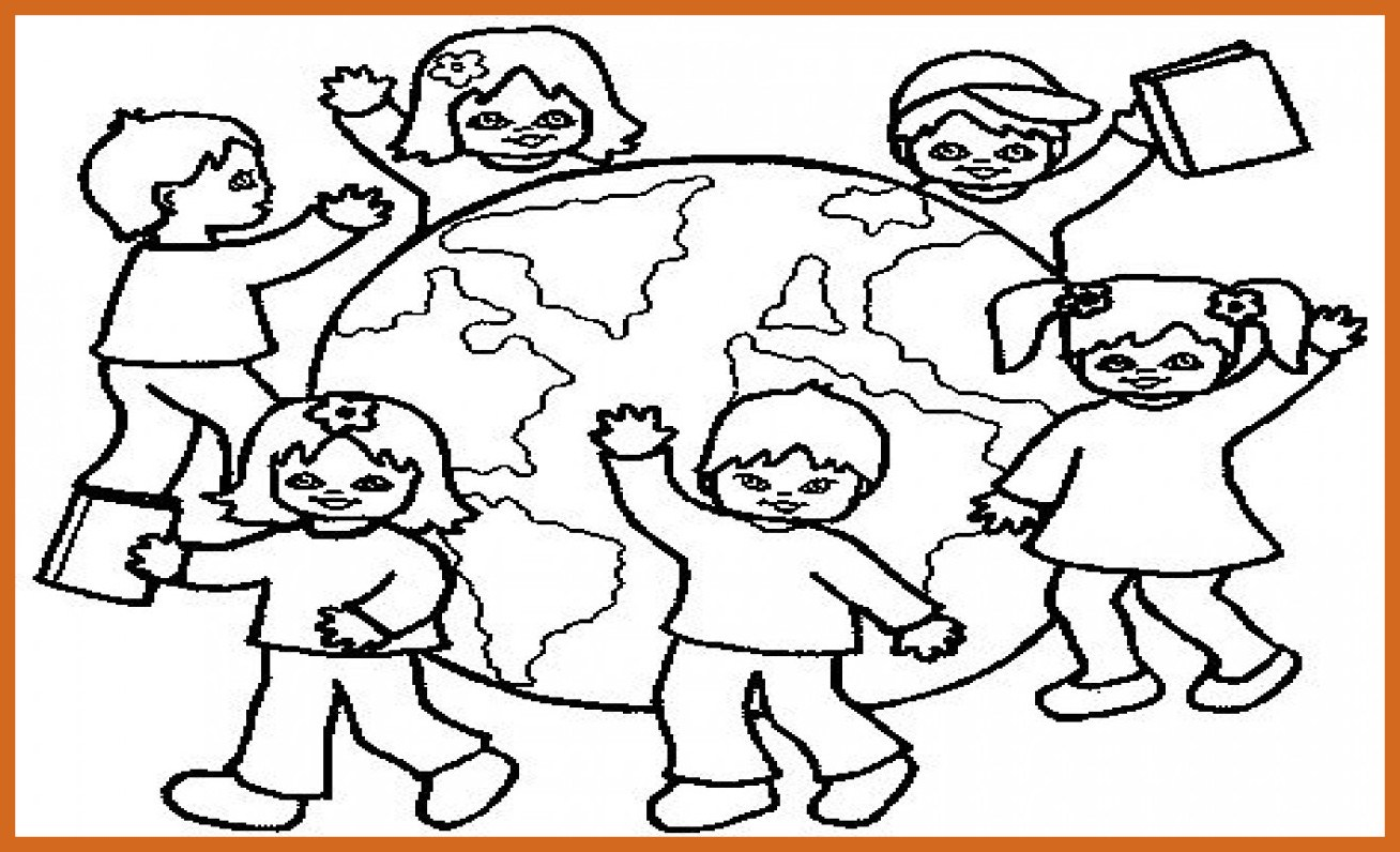 1308x796 The Best Children Around World Coloring Page Image For Styles