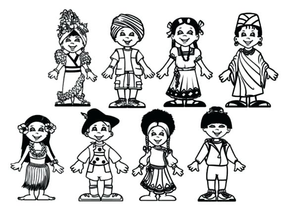 600x425 Children Around The World Coloring Pages