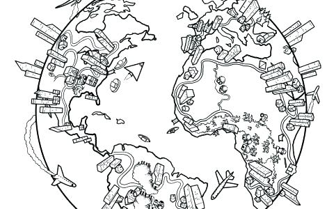 470x300 Coloring Pages Of Flags Around The World