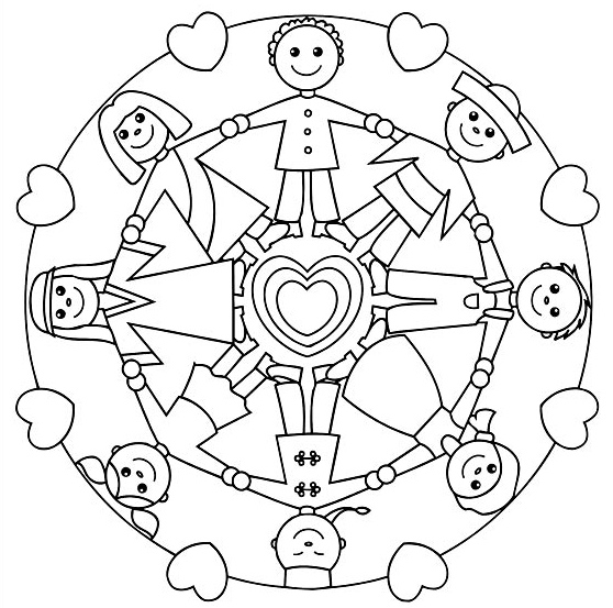 558x553 Holidays Around The World Coloring Pages Free Printable Mandalas