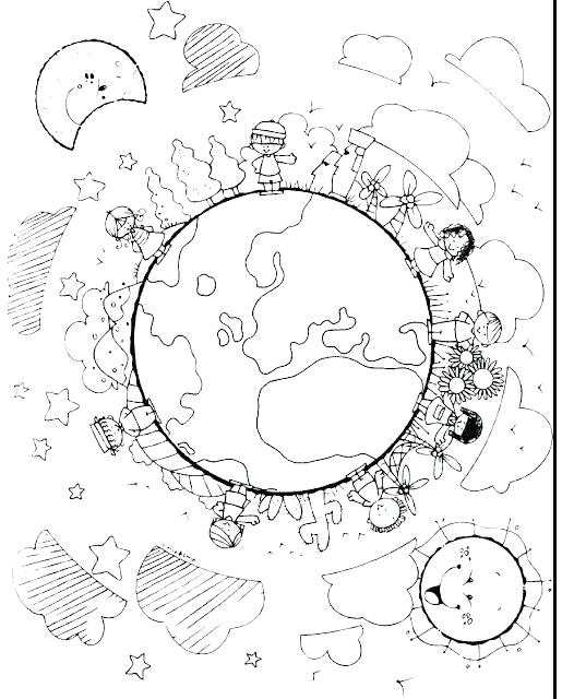 515x640 Children Around The World Coloring Page Free Download Children