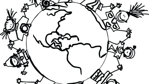 585x329 Children Around The World Coloring Pages