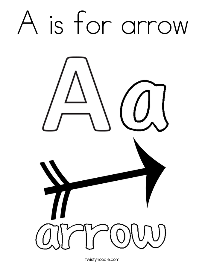 685x886 A Is For Arrow Coloring Page