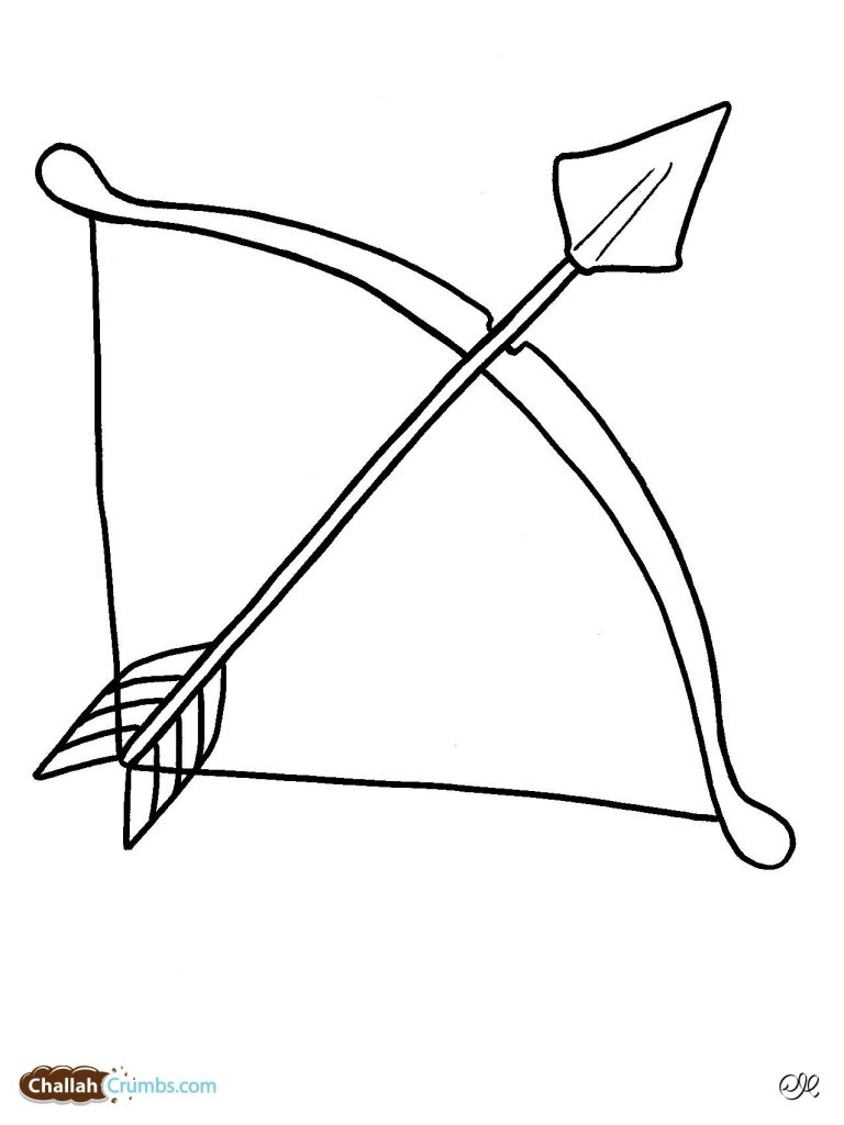 768x1024 Bow And Arrow Coloring Pages Download Coloring For Kids