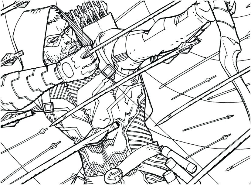 827x609 Green Arrow Coloring Pages Green Arrow Coloring Pages Other