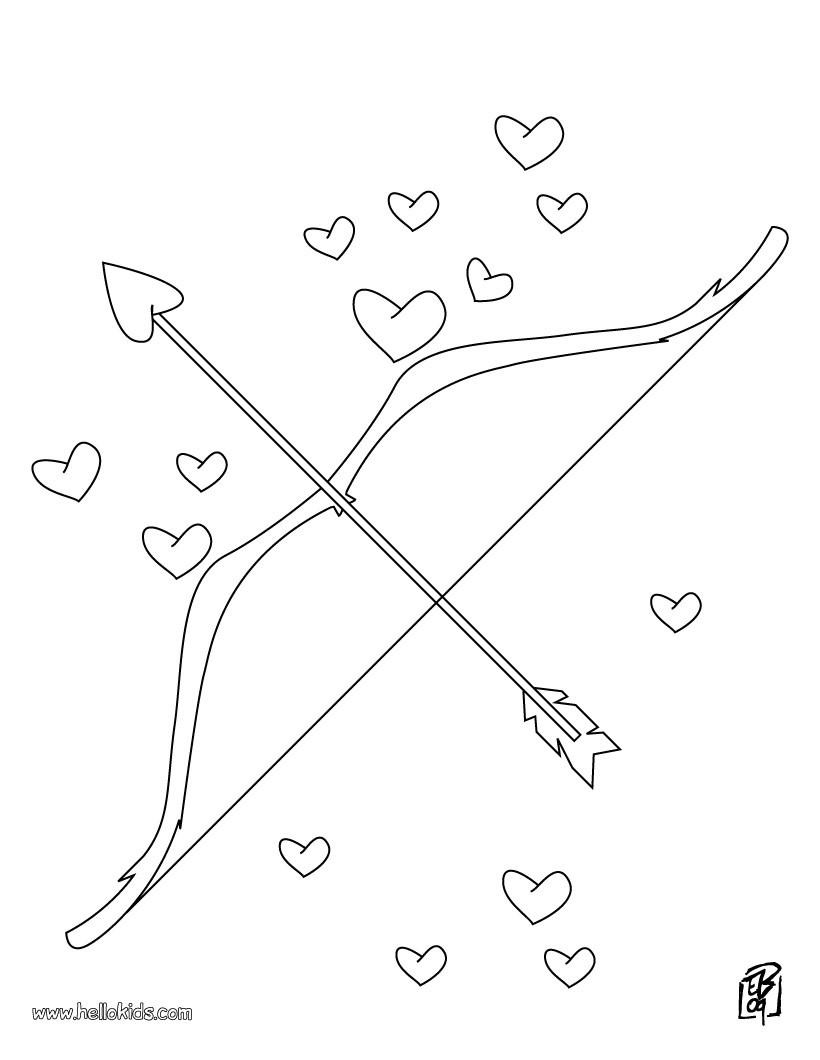 820x1060 Love Bow And Arrow Coloring Pages