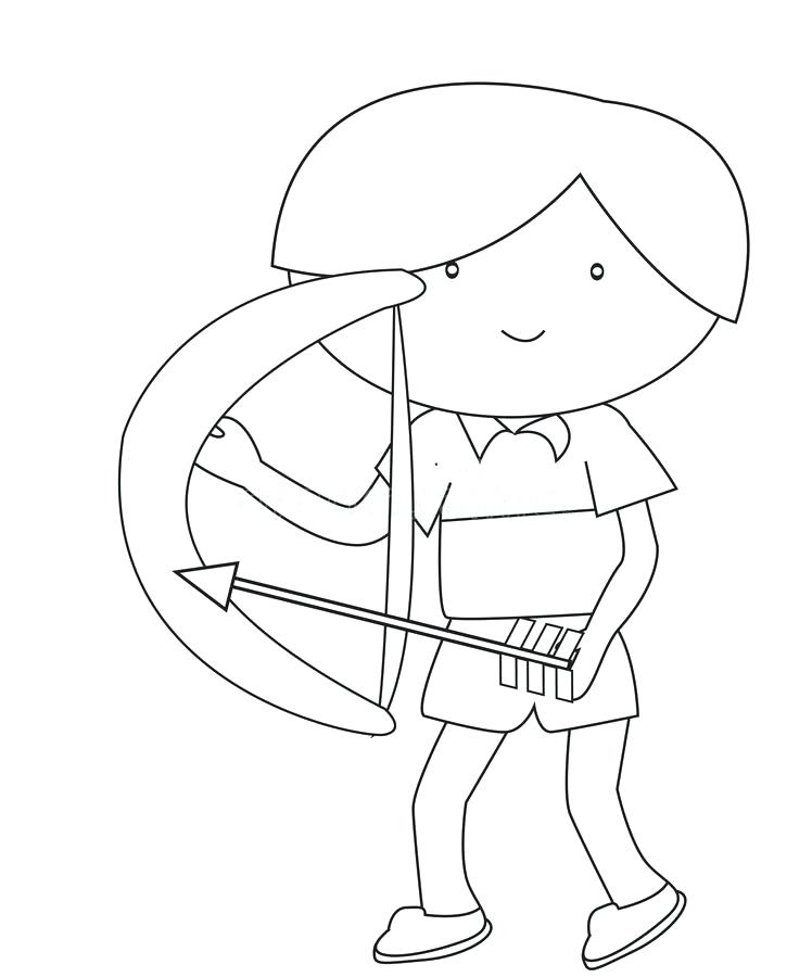 748x900 Minecraft Bow And Arrow Colouring Pages Boy With A Coloring Page