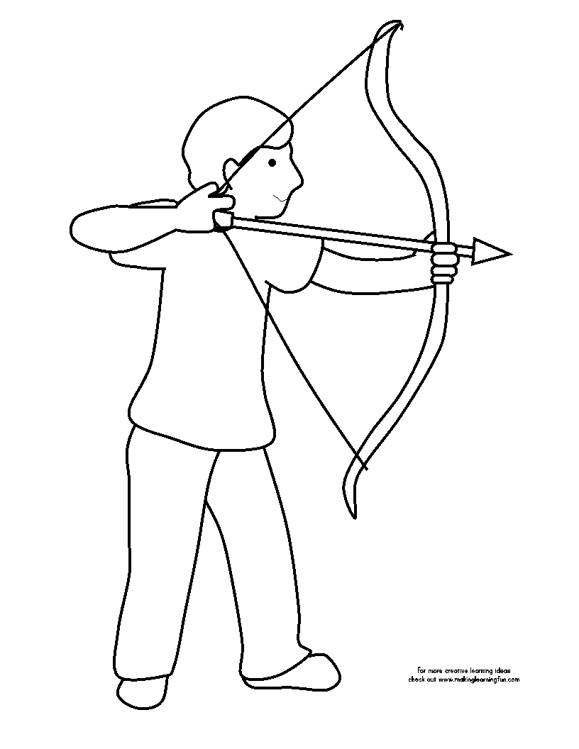 816x1056 Awesome Compound Bow And Arrow Coloring Pages Design Great