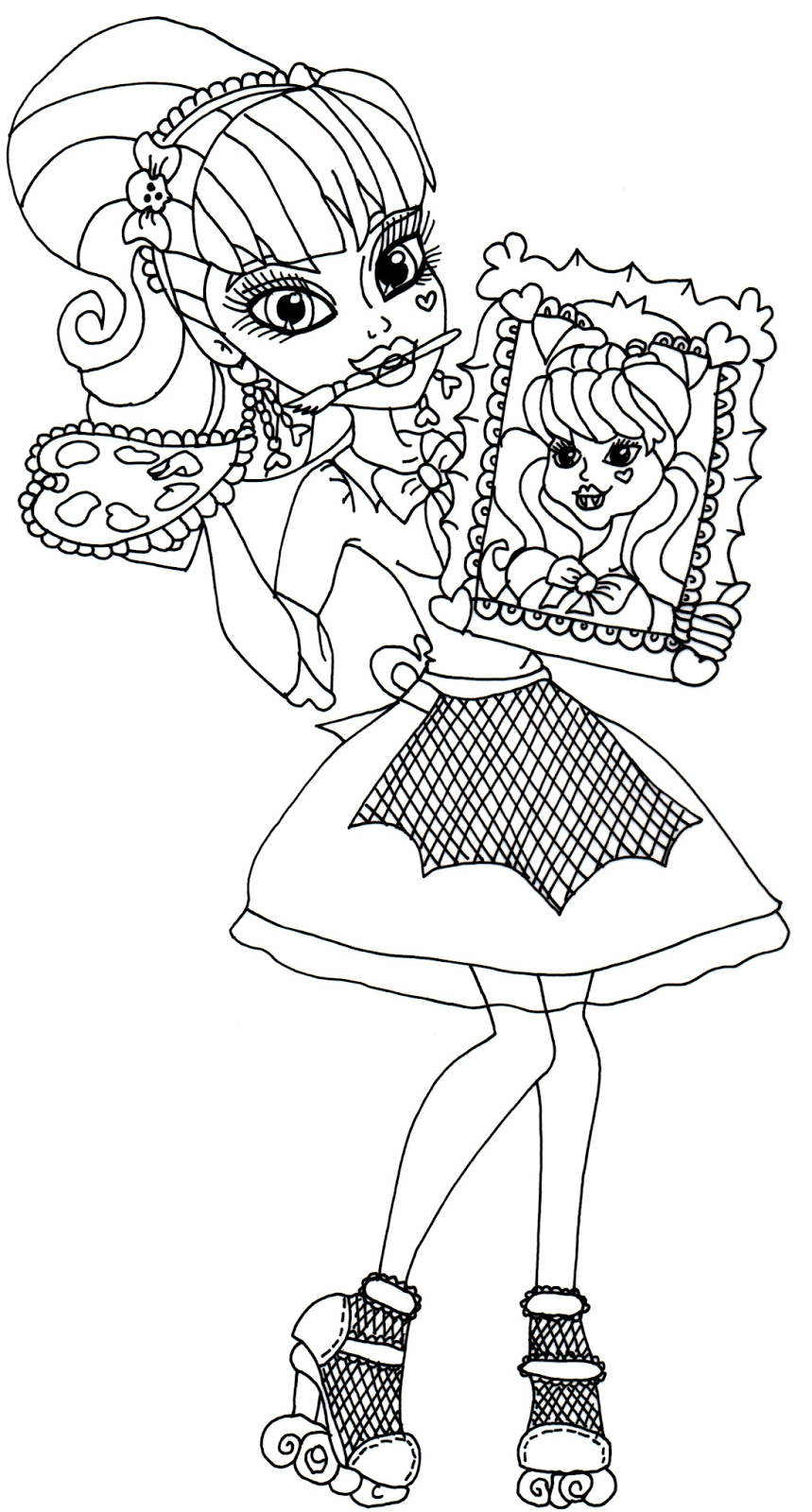 859x1600 Free Printable Monster High Coloring Pages Draculaura Art Class