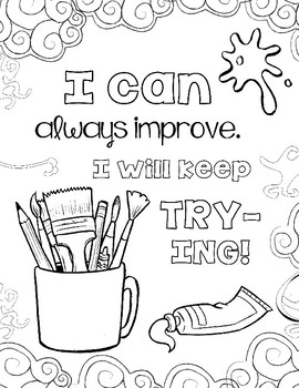 270x350 Growth Mindset Coloring Pages Set The Art Class Edition