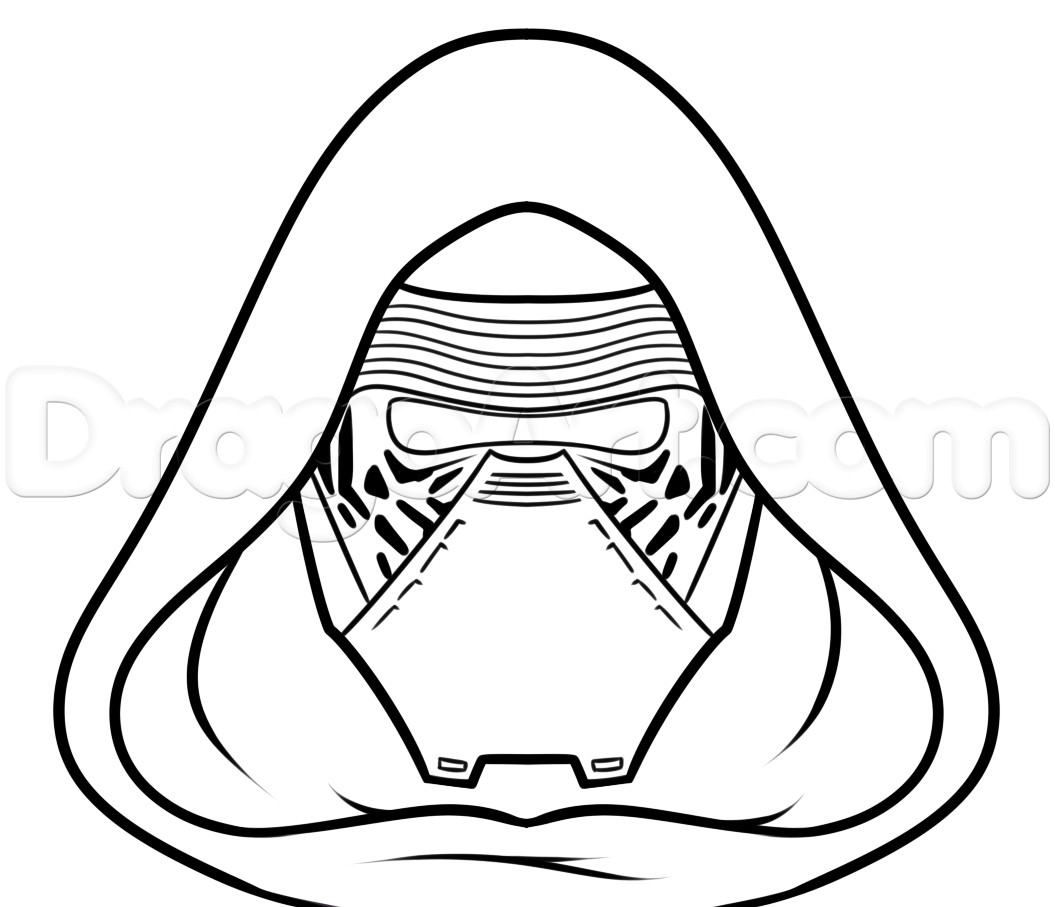 1055x907 Kylo Ren Mask Coloring Pages How To Draw Easy Step Art Class