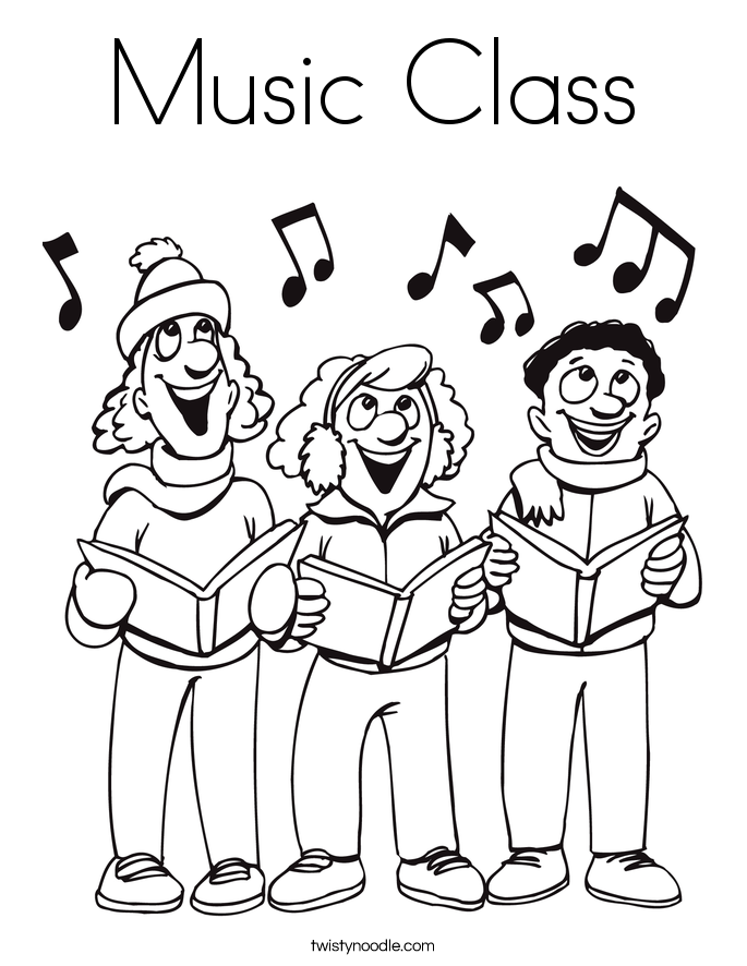685x886 Music Class Coloring Page
