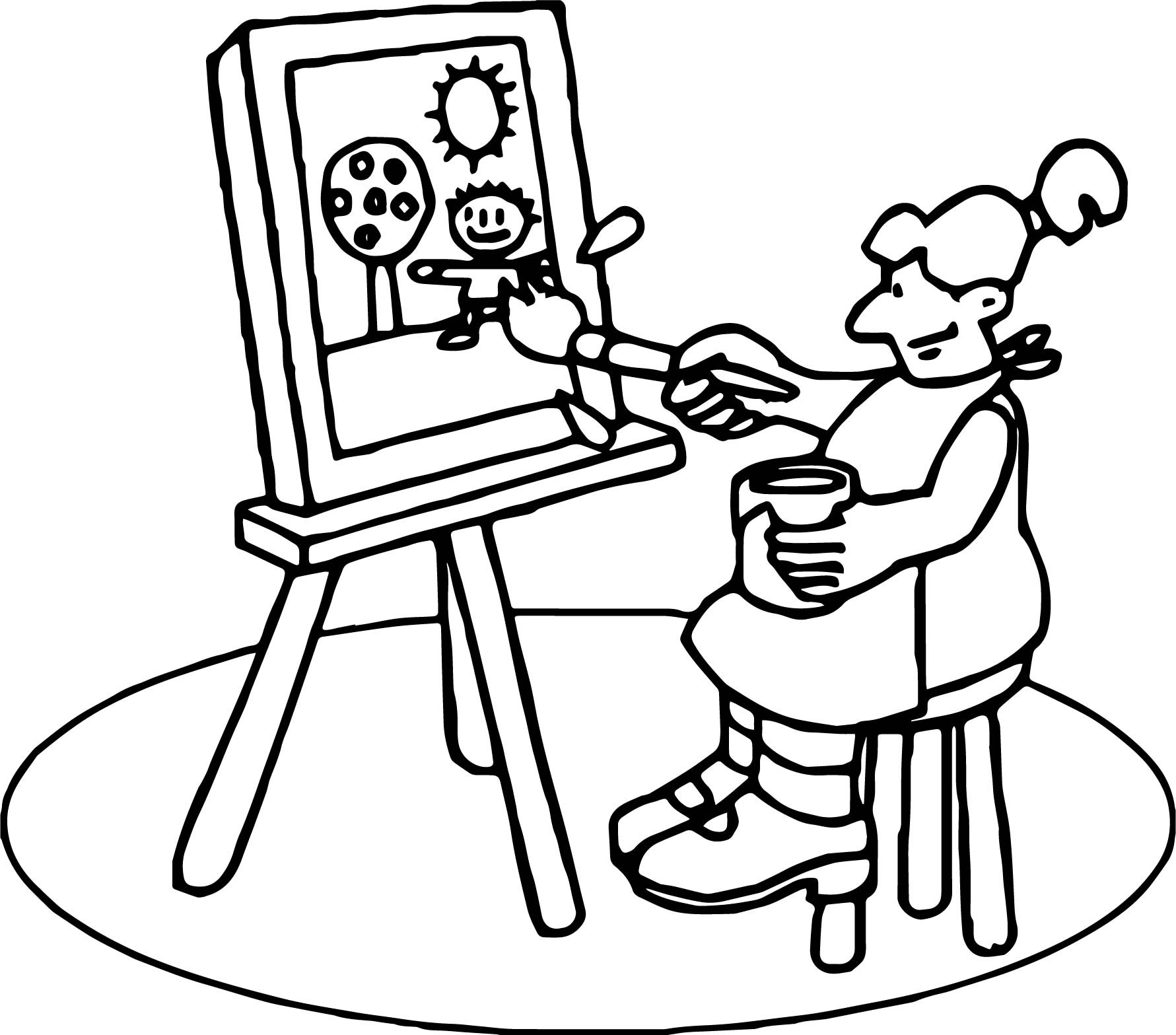 1781x1567 School Pen Coloring Page Inspirational Art Class Painting Coloring