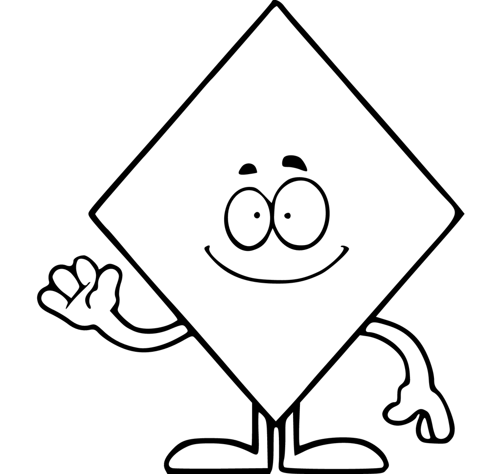 1024x969 Shapes Coloring Pages Download Free Printable Kids Tracing Diamond
