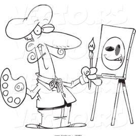 268x268 An Art Class Easel Coloring Page Free Printable Coloring Pages Art