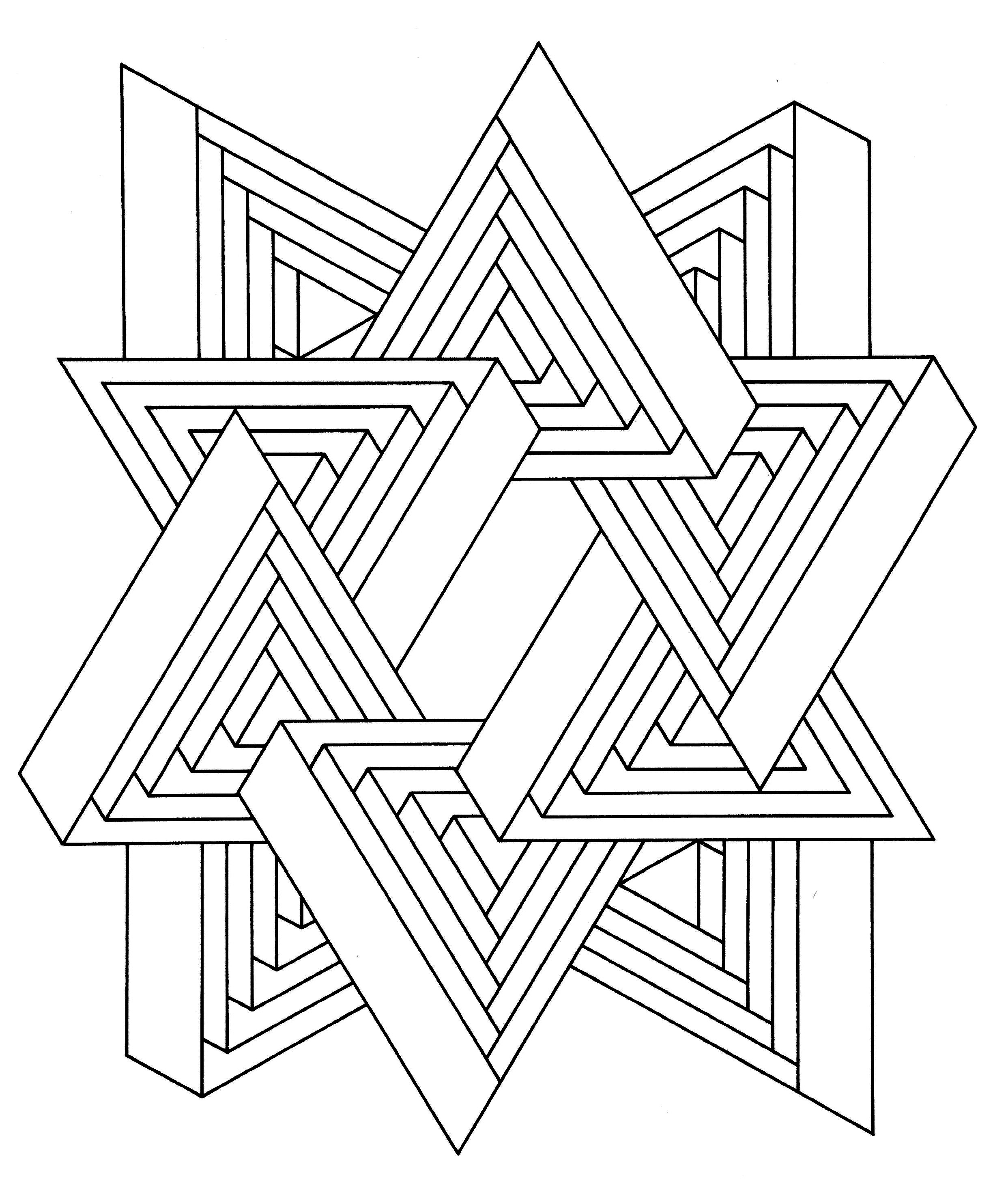 2485x2954 To Print This Free Coloring Page Op Art Jean Larcher Inside