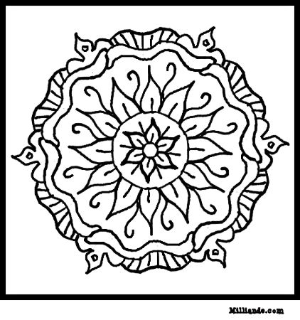 422x450 Art Coloring Art Color Pages Islamic Ornament Mosaic Coloring